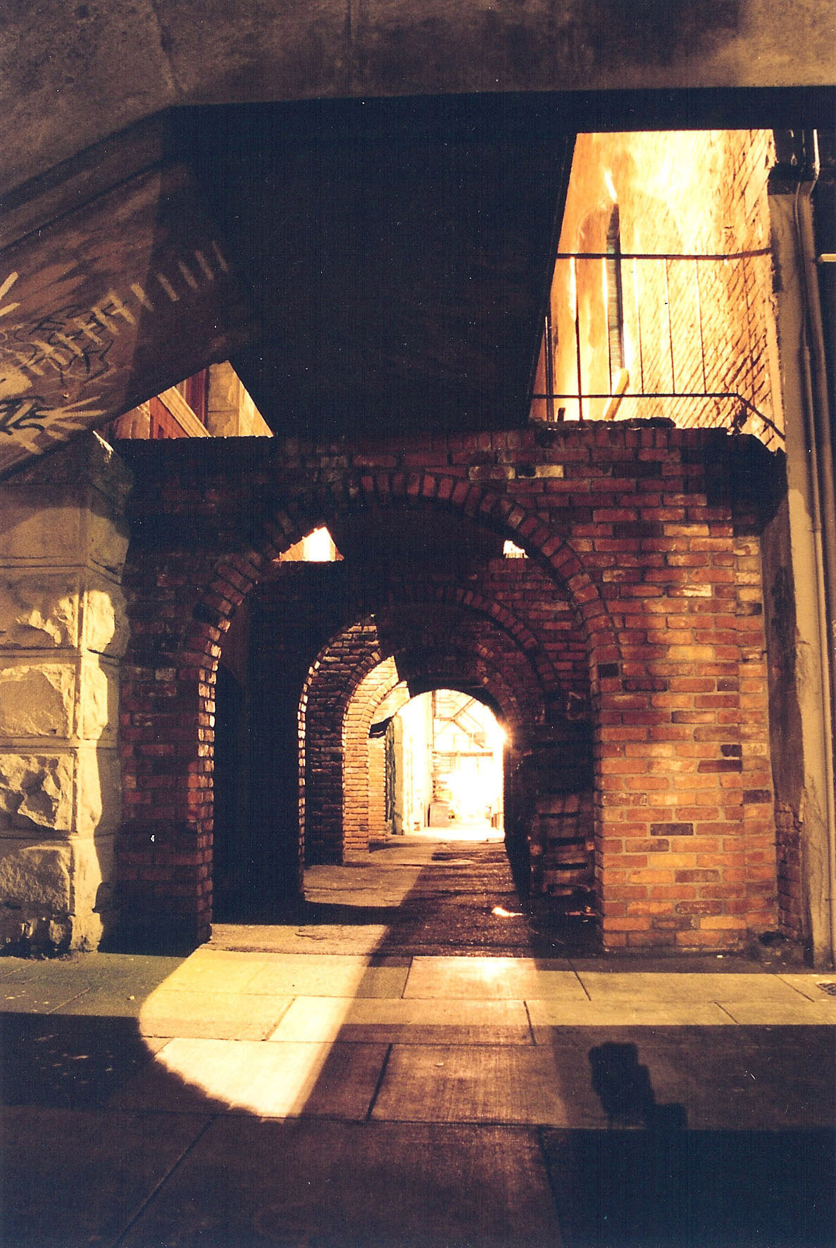 Helmcken Alley arches and ghost